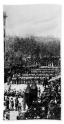 Lincolns Funeral Procession, 1865 Beach Towel by Photo Researchers