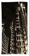 Lloyds Building London In Gold Beach Towel