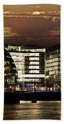 London City Hall At Night Beach Towel