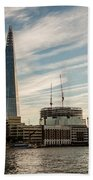 London Skyline Sunset Beach Towel