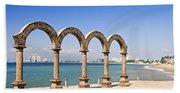 Los Arcos Amphitheater In Puerto Vallarta Beach Towel