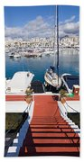 Marina In Puerto Banus Beach Towel