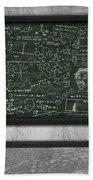 Maths Formula On Chalkboard Beach Sheet