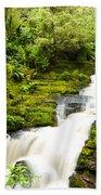 Mclean Falls In The Catlins Beach Towel