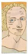 Metoposcopy, 17th Century Beach Towel