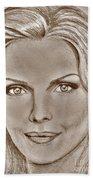 Michelle Pfeiffer In 2010 Beach Towel by J McCombie