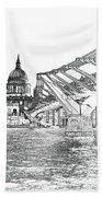 Millenium Bridge And St Pauls Beach Towel