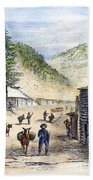 Mining Camp, 1860 Beach Towel