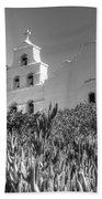 Mission San Diego De Alcala Monochrome Beach Towel
