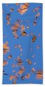 Monarch Danaus Plexippus Butterflies Beach Towel