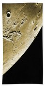 Moon, Apollo 16 Mission Beach Towel by Science Source