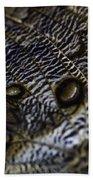 Mournful Owl Butterfly Beach Towel