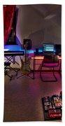 Music Studio Beach Towel