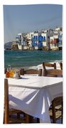 Mykonos Beach Towel by Joana Kruse