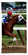 Neck And Neck At Saratoga One Beach Towel