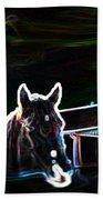 Neon Horse Beach Towel