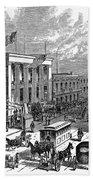 New York: The Bowery, 1871 Beach Towel
