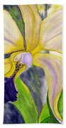 No Ordinary Orchid Beach Towel