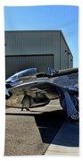 North American P-51 Mustang  Beach Towel