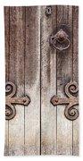 Old Wooden Door Beach Sheet