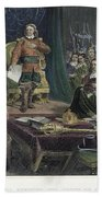 Oliver Cromwell Beach Towel
