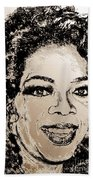 Oprah Winfrey In 2007 Beach Towel
