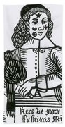 Ornamental Patches On Face, 17th Century Beach Towel