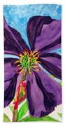 Our Very Bold Tibouchina Beach Towel