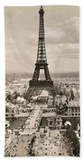 Paris: Eiffel Tower, 1900 Beach Towel