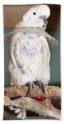 Parrot White Beach Towel