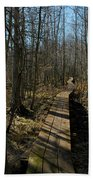 Path Into The Woods Beach Towel