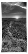 Path To The Sun   Black And White Beach Towel
