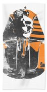 Pharaoh Stencil  Beach Towel by Pixel  Chimp