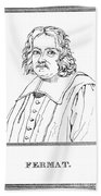 Pierre De Fermat, French Mathematician Beach Towel