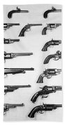 Pistols And Revolvers Beach Towel