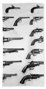 Pistols And Revolvers Beach Towel