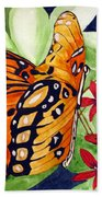 Precocious Butterfly Beach Towel