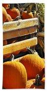 Pumpkins Beach Towel by Elena Elisseeva