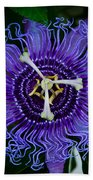 Purple Flower 1 Beach Towel