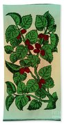 Red Mulberry Beach Towel