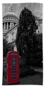 Red Telephone Box Beach Towel