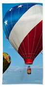 Red White And Balloons Beach Towel