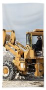 Removing Snow Beach Towel by Ted Kinsman