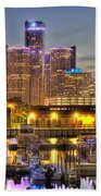 Renaissance Center Detroit Mi Beach Towel