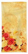Retro Flower Pattern Beach Towel