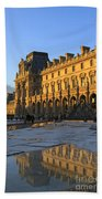 Richelieu Wing Of The Louvre Museum In Paris Beach Towel
