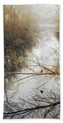 River In The Fog Beach Towel