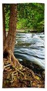 River Through Woods Beach Sheet