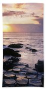 Rocks On The Beach, Giants Causeway Beach Towel