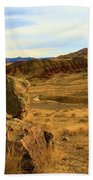 Rocky Painted Hills Beach Towel